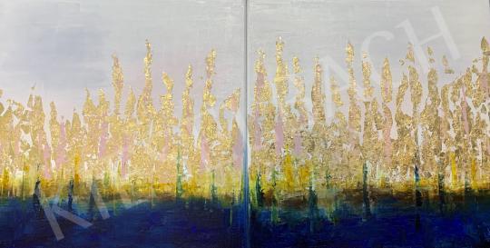 Eladó  Náray Tamás - Aki a mélységet látta - diptichon festménye