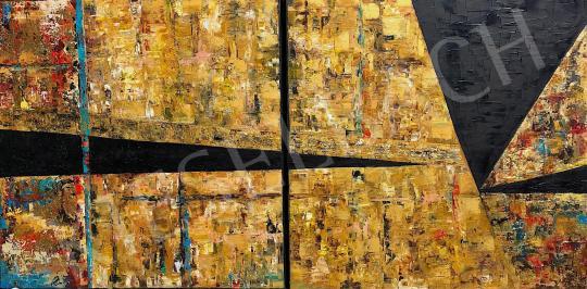 Eladó  Náray Tamás - Szentély Nippurban - diptichon festménye