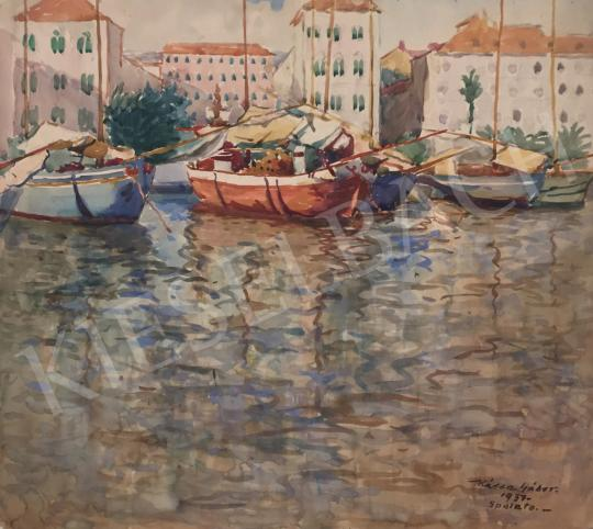 For sale  Kássa, Gábor - Spalato Port, 1937 's painting