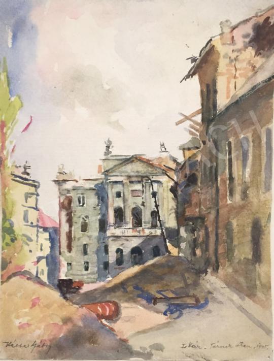 For sale  Kássa, Gábor - Budapest, Castle, Tárnok Street, Building of the Former Military High Command, 1945 's painting