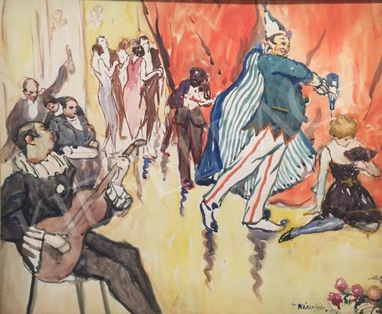 Eladó  Kássa Gábor - Este az Orfeumban (A csinos szólista lány), 1929 festménye