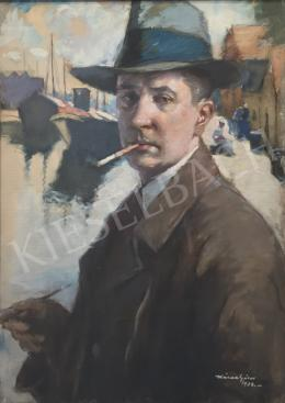 Kássa, Gábor - Self-Portrait  in Dutch Harbor, 1938, 1938