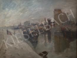 Kássa Gábor - Budapest, a csepeli szabadkikötő , 1953