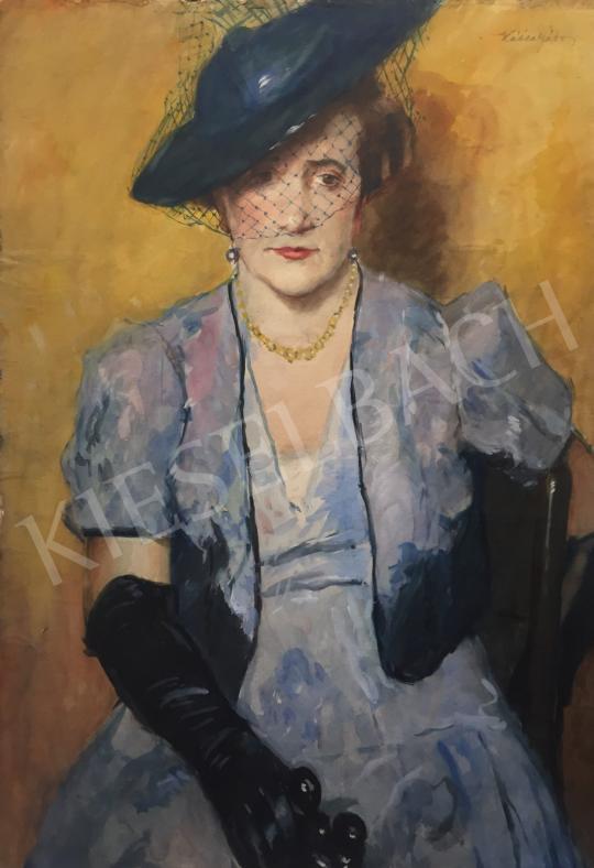 Eladó  Kássa Gábor - Lila ruhás hölgy (Operában), 1937 festménye