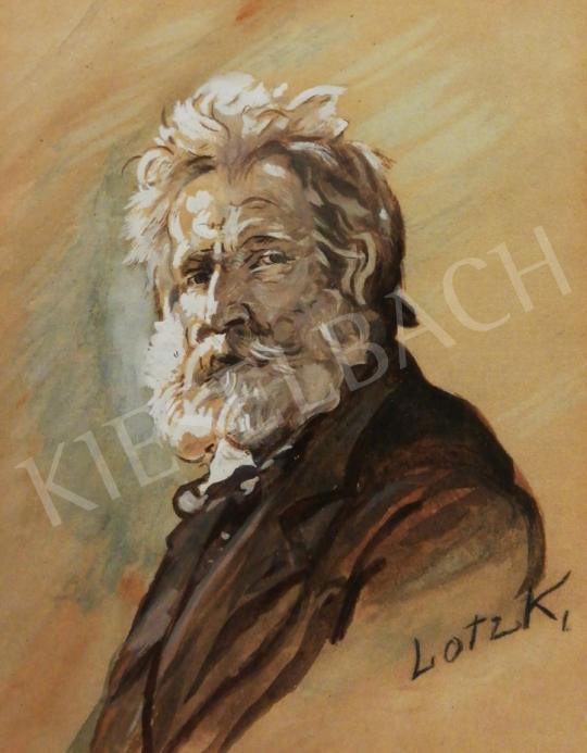 Lotz Károly - Önarckép festménye