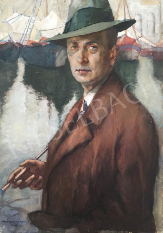 Eladó  Kássa Gábor - Önarckép vitorlással festménye