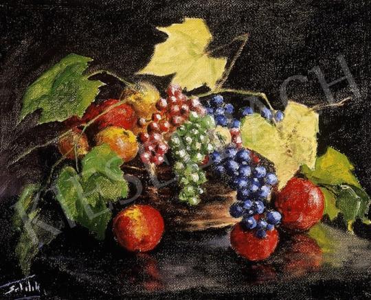 Sztelek Norbert - Ősz gyümölcsös csendélet | 6. Aukció aukció / 132 tétel