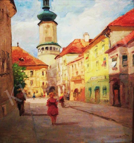 Eladó Bojtor Károly - Sopron látképe a Tűztoronnyal festménye