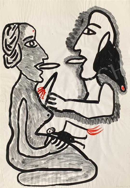 Eladó  feLugossy László - Énekóra, 1990 festménye