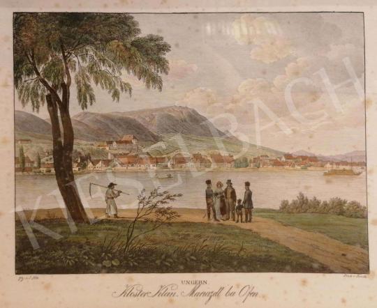 Eladó  Kunike, Adolph Friedrich - Az egykori Schmidt-kastély a pesti oldalról tekintve, az Óbuda feletti dombon festménye