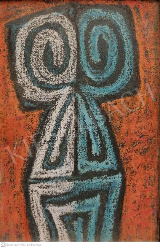 Eladó Veress Pál - Bagoly bálvány, 1964 festménye
