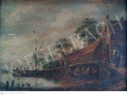 Unknown painter - In Dutch Port, 1673