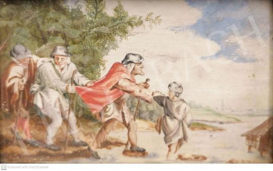 Eladó Ismeretlen festő - Vak vezet világtalant festménye