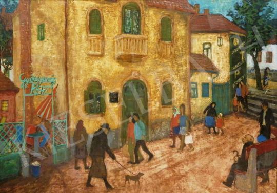 For sale  Hikádi Erzsébet - Street in Hévíz 's painting
