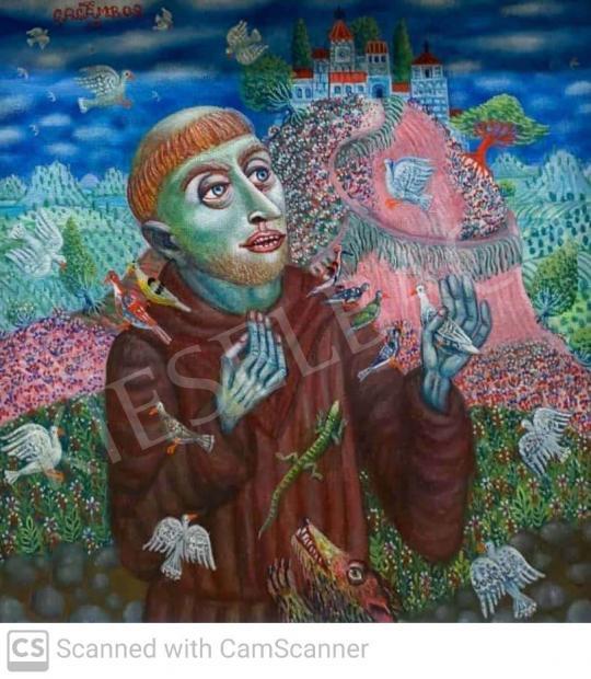 Eladó  Galambos Tamás - Szent Ferenc festménye