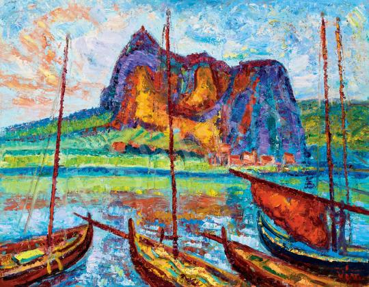 Eladó  Vén Emil - Mediterrán tengerpart festménye