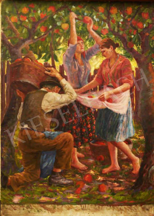 Eladó Bajnai Tóth Lajos - Almaszedők festménye