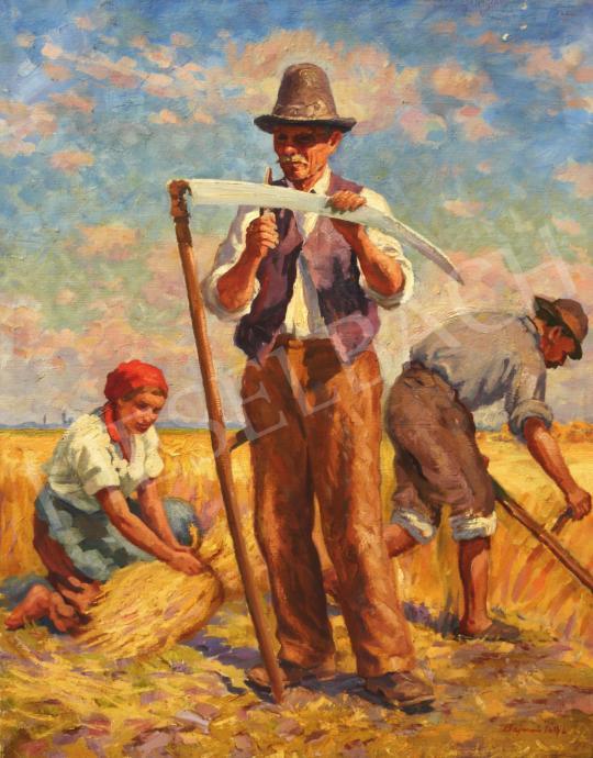 Eladó Bajnai Tóth Lajos - Aratók a mezőn festménye