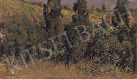 Eladó Basch Árpád - Nyári látkép fasorral festménye