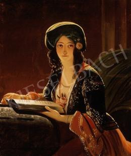 Ismeretlen festő, 1850 körül - Szépség török kosztümben