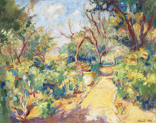 Vass Elemér - Napsütötte francia liget (Provence-i nyár), 1931 | 64. Őszi Aukció aukció / 4 tétel