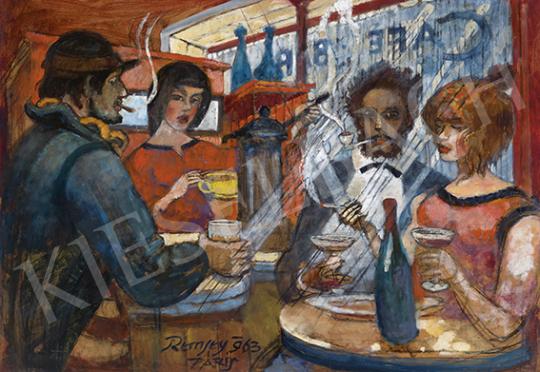 Remsey Jenő György - Párizsi kávéház (Randevú), 1963 | 64. Őszi Aukció aukció / 6 tétel