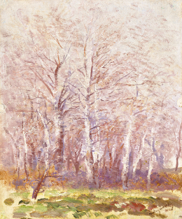 Mednyánszky, László - Poplars (Morning Lights)