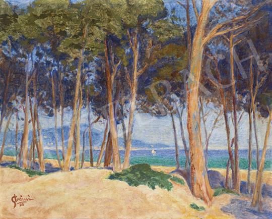 Strémi József - Francia tengerpart (Cote d' Azur), 1938 | 64. Őszi Aukció aukció / 20 tétel