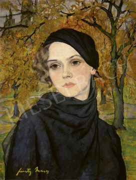 Feszty Masa - Barna szemű lány őszi fák előtt, 1925 körül | 64. Őszi Aukció aukció / 26 tétel
