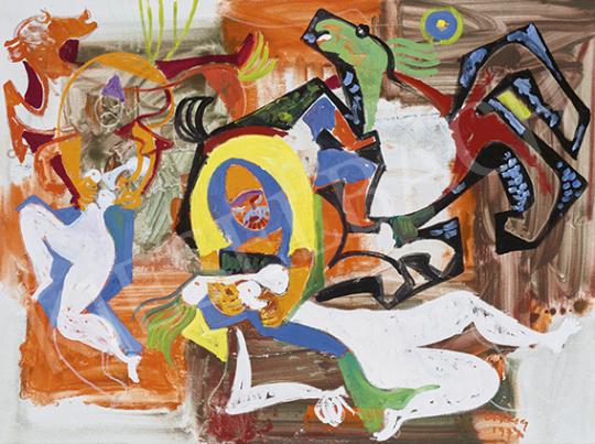 Litkey György - Szabin nők elrablása, 1974 | 64. Őszi Aukció aukció / 38 tétel