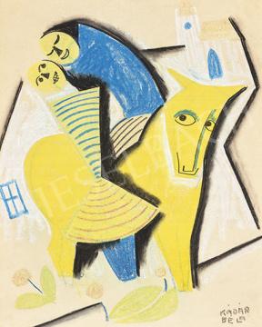 Kádár Béla - Leánykérés (Jelenet sárga lóval), 1926 körül   64. Őszi Aukció aukció / 39 tétel
