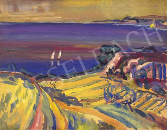 Vén Emil - Földközi tenger, vitorlások, spanyol dombok,1932 | 64. Őszi Aukció aukció / 46 tétel