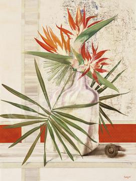 Korga György - Ikebana csendélet, 1970-es évek | 64. Őszi Aukció aukció / 48 tétel