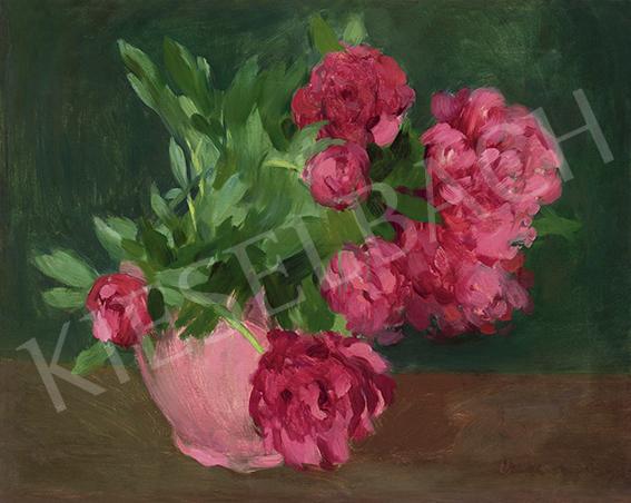 Vaszary János - Pünkösdi rózsák, 1905 körül   64. Őszi Aukció aukció / 74  tétel