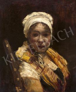 Norbert Gœneutte - Fehér főkötős lány, 1881