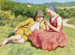 Glatz Oszkár - Gyerekek a domboldalon, 1941