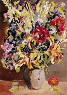 Schéner Mihály - Virágcsendélet tűzliliomokkal