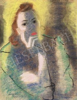 Lehel Mária - Vörös ajkú nő, 1947