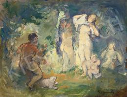 Mattyasovszky-Zsolnay László - Páris ítélete (Hommage á Cézanne), 1929