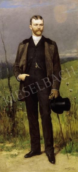 Vastagh György - Fiatal férfi cilinderrel