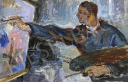 Bortnyik Sándor - A festő (Önarckép), 1933