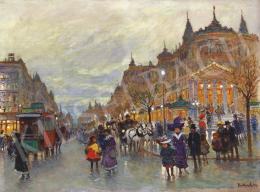 Berkes Antal - Esti fények a Boulevardon, 1912