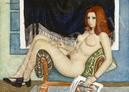Czene Béla - Lány divatlappal, 1970