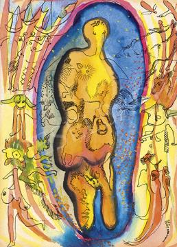Rozsda Endre - Burokban (Constelation), 1940 körül | 64. Őszi Aukció aukció / 166 tétel