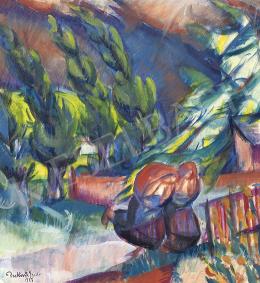 Derkovits Gyula - Menekülés (Közelgő vihar), 1923
