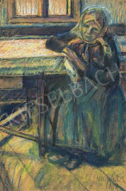 Nagy István - Édesanyám a szobában (Csíkmindszent), 1918