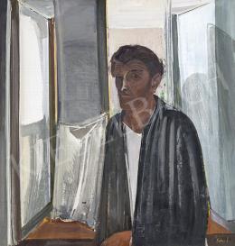 Kokas, Ignác - Self-Portrait in Studio with Reflecting Windows
