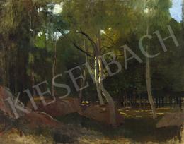 Paál László - Fények a barbizoni erdőben, 1876 körül