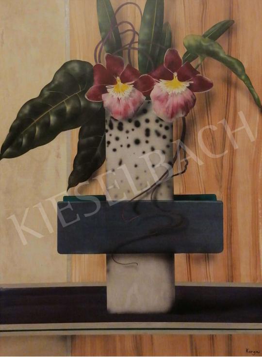 Eladó  Korga György - Ikebana csendélet festménye