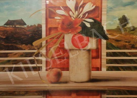 Eladó  Korga György - Ikebana kompozíció festménye